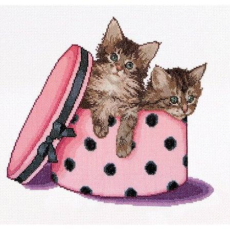 Thea Gouverneur Counted Cross-Stitch Kit, Kitten Twins