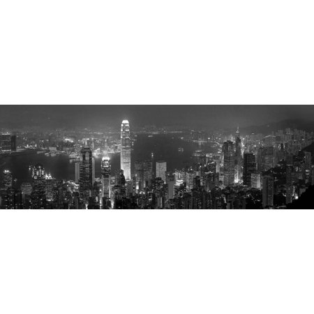 Victoria Harbour and Skyline from the Peak, Hong Kong, China Print Wall Art By Michele Falzone