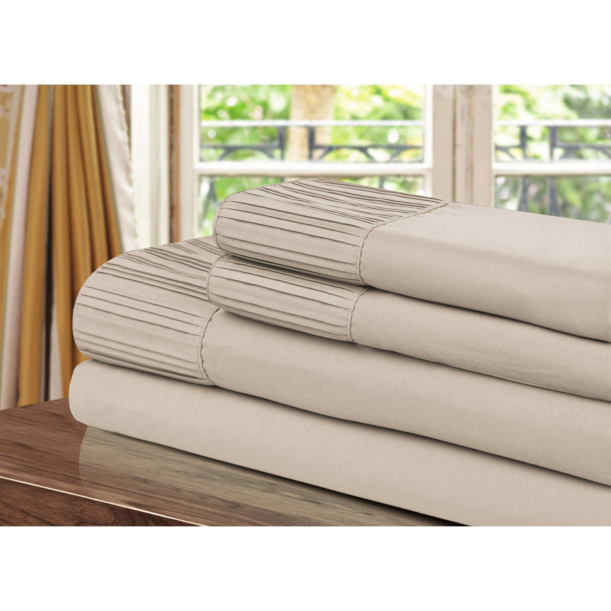 Chic Home Swifty Pleated Microfiber Sheet
