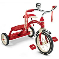 "Radio Flyer, Classic Red Dual Deck Tricycle, 12"" Front Wheel, Red"