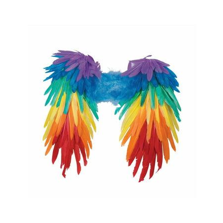 Halloween Rainbow Feather Wings - Rainbow Fairy Wings