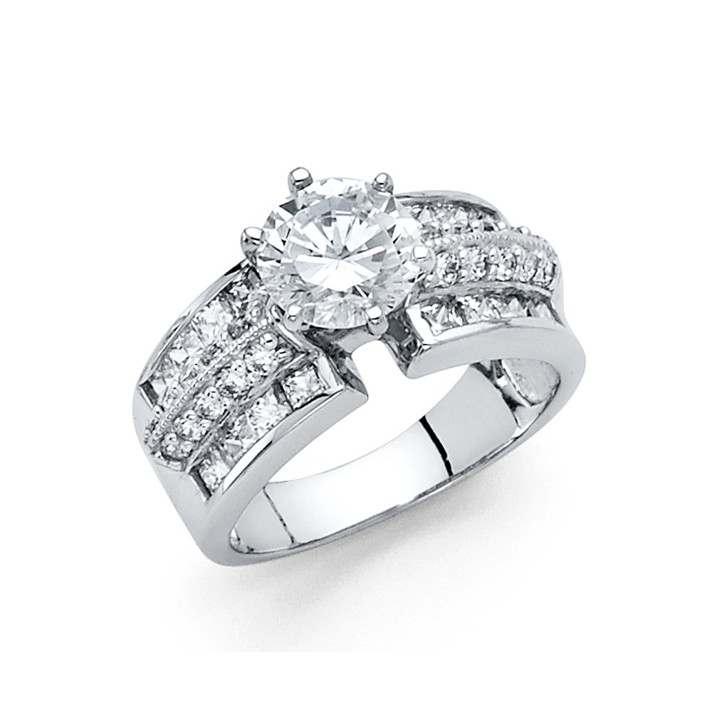 Paradise 14K Solid White Gold 1.25 cttw Cubic Zirconia Ro...
