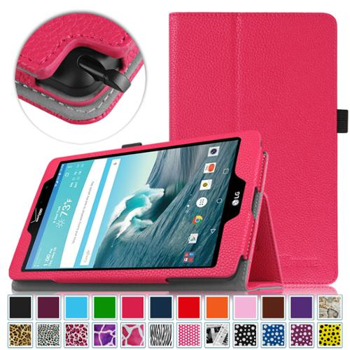 LG G Pad X8.3 Inch (4G LTE Verizon Wireless VK815) Android Tablet Case - Fintie Folio Cover with Auto Sleep\/Wake, Magenta