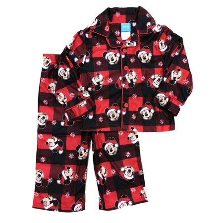 4fce6d02f Disney - Disney Toddler Boys Red Flannel Mickey Mouse Holiday ...