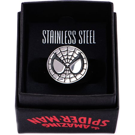 Marvel Spiderman steel ring size 10](Spiderman Jewelry)
