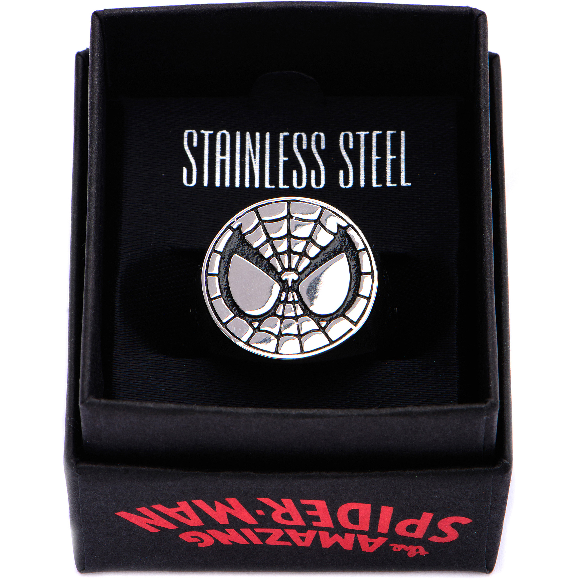 Marvel Spiderman steel ring size 10