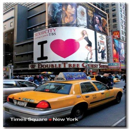 47th Street Photo - Times Square & 47th Street - New York City Photo Souvenir Refrigerator Magnet