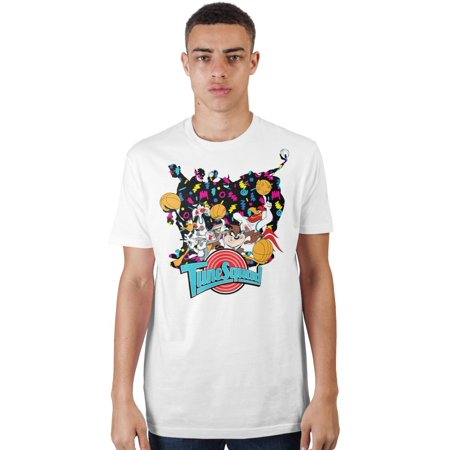 Space Jam Tune Squad Fitted White Tee, Looney Tunes Basketball Team Shirt, 90s Style Adult-Small - 90s School Supplies