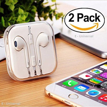 E-Universal Latest New Earphones with Microphone Premium [2 Pack] Stereo - image 7 de 7
