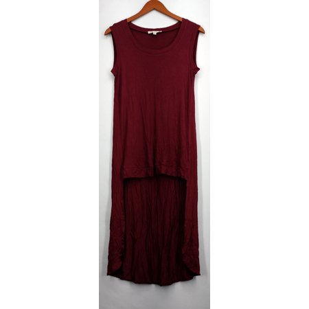 Indigo Thread Co. Top Size M Hi Low Detail Sleeveless Tank Wine Red