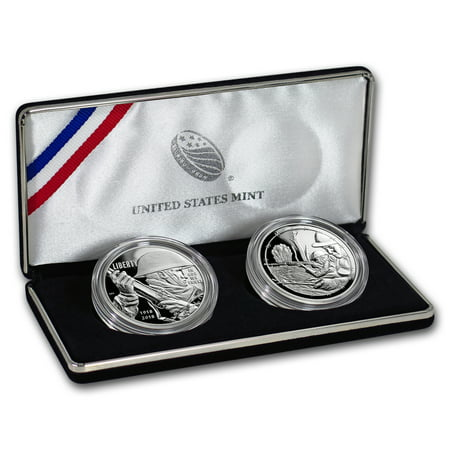 2018 World War I Centennial Silver Dollar Army Medal Set