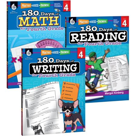 180 Days of Reading, Writing and Math for Fourth Grade Set