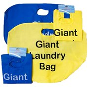 Set of 2 Giant Laundry Bag Giant 20 X 16 Nonwoven Material Blue & Yellow