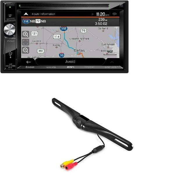 Jensen Vx7023 6 2 Quot Double Din Navigation Dvd Cd Mp3 Car Stereo Receiver Aux Usb Cam 600 License Plate Bolt On Rear View Camera W Built In I R Camera Walmart Com Walmart Com