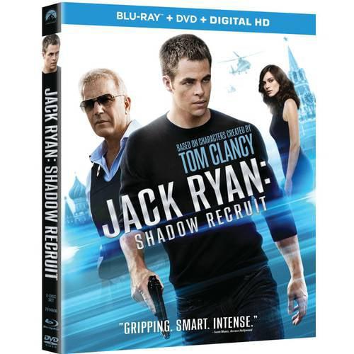 Jack Ryan: Shadow Recruit (Blu-ray + DVD + Digital HD) (Walmart Exclusive) (With INSTAWATCH) (Widescreen)