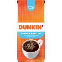 Dunkin' French Vanilla Flavored Coffee, 12-Ounce (Packaging May Vary)