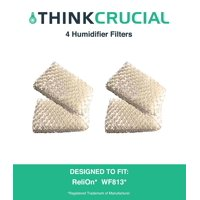 4 Premium ReliOn WF813 2-Pack Humidifier Wicking Filters, Fits ReliOn RCM832 (RCM-832) RCM-832N, DH-832 and DH-830 Humidifers, Compare To Part # WF813, by Think Crucial By Crucial Air