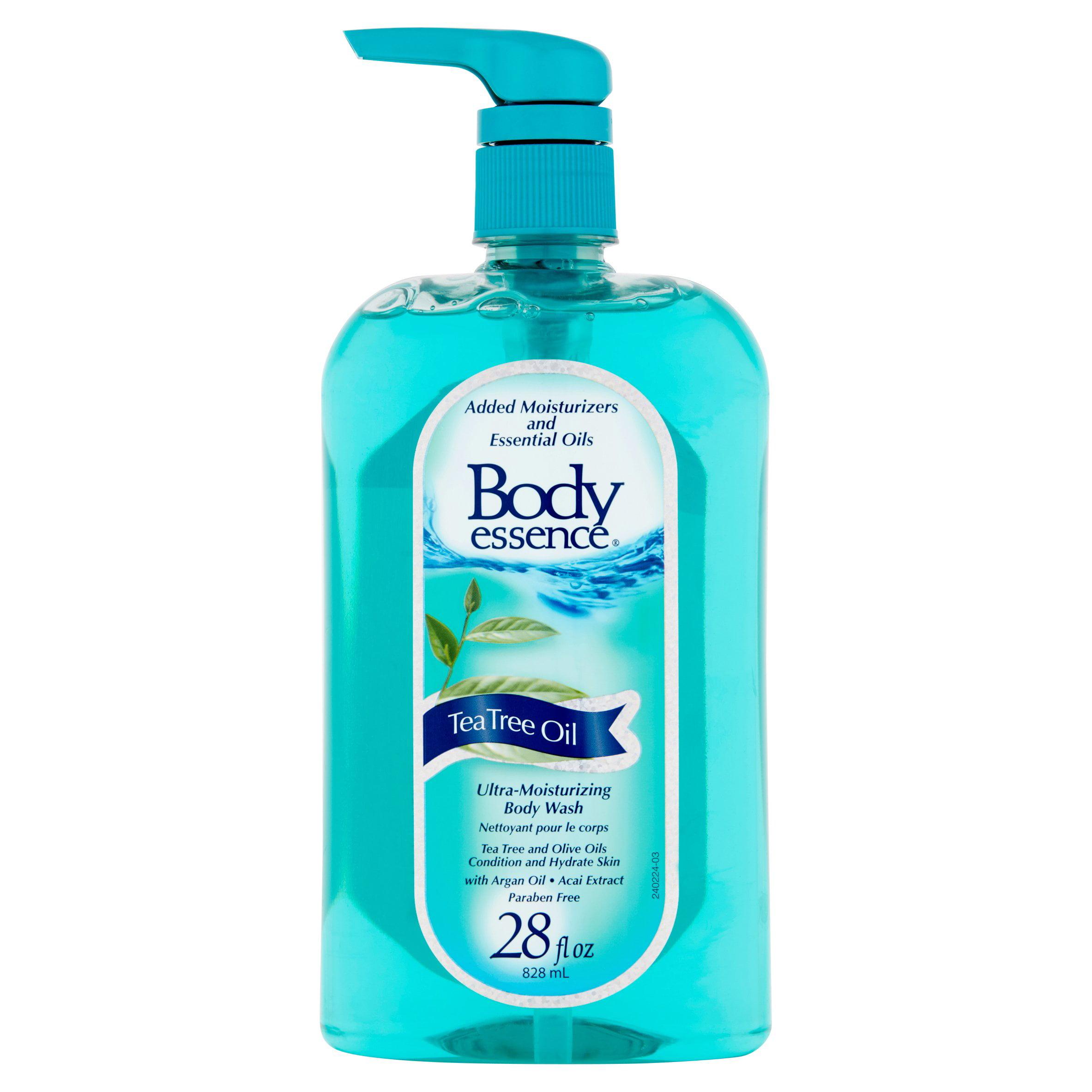 (2 pack) Body Essence Tea Tree Oil Ultra-Moisturizing Body Wash, 28 fl oz