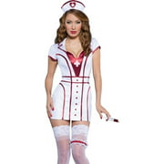 Naughty Night Nurse Costume In Character Costumes 25017 White/Red