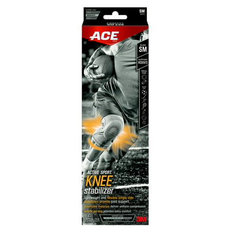 Image of ACE Active Sport Knee Stabilizer, Extra Large, Gray, 1/Pack