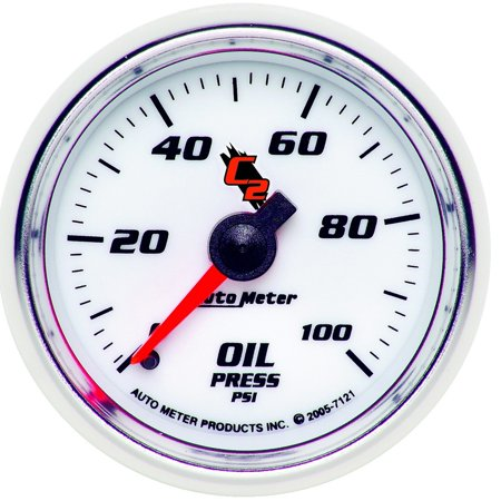 AutoMeter 7121 C2 Mechanical Oil Pressure Gauge Autometer Autogage Mechanical Oil
