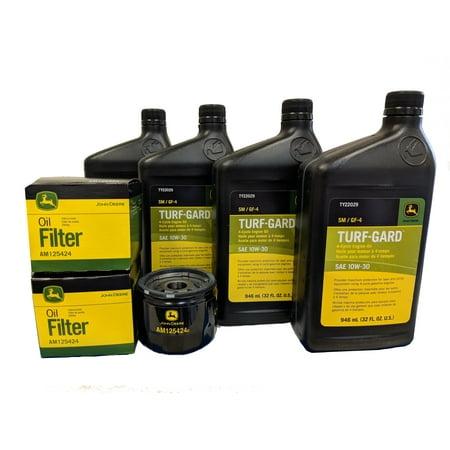 John Deere Original Equipment Double Oil Change Kit - (4) TY22029 + (2) -