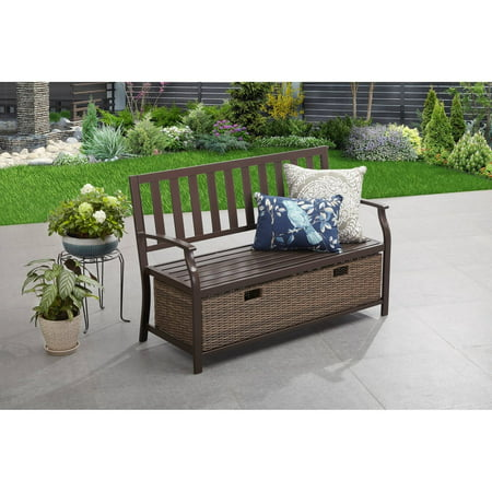 Terrific Better Homes Gardens Camrose Farmhouse Outdoor Bench With Pabps2019 Chair Design Images Pabps2019Com