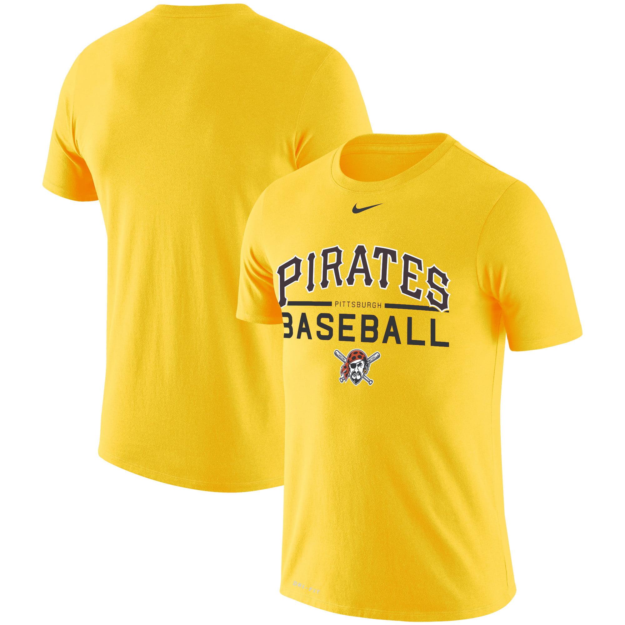 Pittsburgh Pirates Nike Practice Performance T-Shirt - Gold