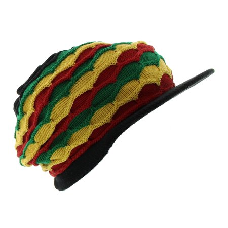 JFH Rasta Dreadlocks Visor Hat Multiple Designs and Colors - Black Gyr](Dreadlock Hat)