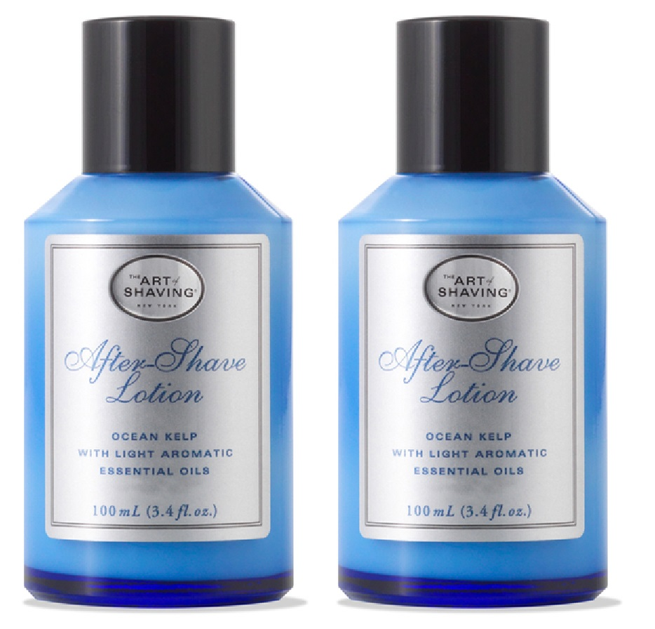The Art Of Shaving After Shave Lotion, Ocean Kelp, 3.3 Oz (Pack of 2) + 3 Count Eyebrow Trimmer