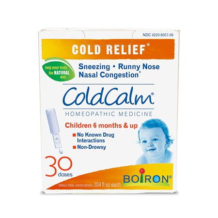 Coldcalm Baby, 30 Doses. Baby Cold Relief Drops for Sneezing, Runny Nose, and Nasal Congestion, Non-drowsy, Sterile Single-use Liquid Oral Doses with Natural.., By