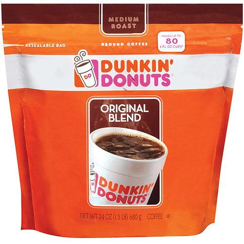 Dunkin' Donuts Original Blend Medium Roast Coffee, 24 oz