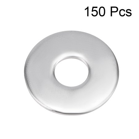 150 Pcs 12mm x 4mm x 1mm 304 Stainless Steel Flat Washer for Screw Bolt - image 3 of 3