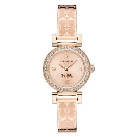 Women's Signature Madison Rose Gold Logo Bangle Watch (Square Bangle Watch)