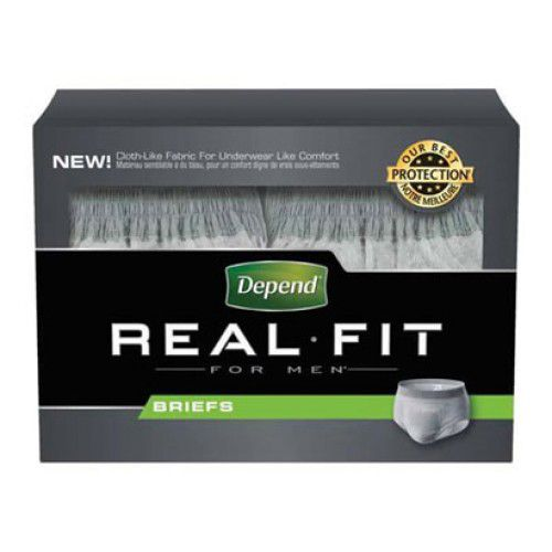 Kimberly-clark Depend Real Fit Briefs for Men ''Small/Med...