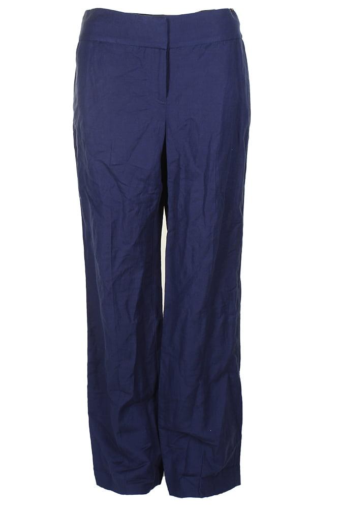 Alfani Midnight Blue Comfort Waist Wide-Leg Trousers  4