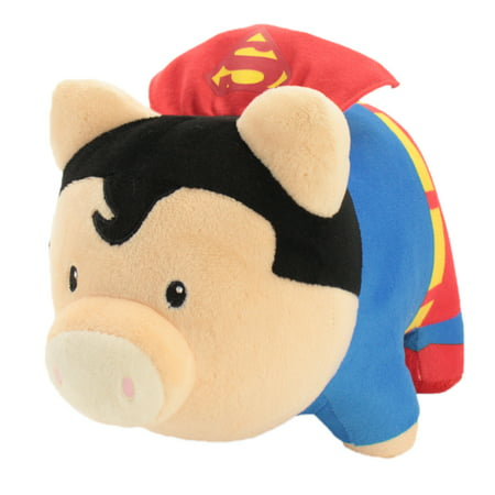DC Comics Justice League''s Superman Soft Piggy Thrifter | Soft and Plush Collectible Batman Bank | 9.5