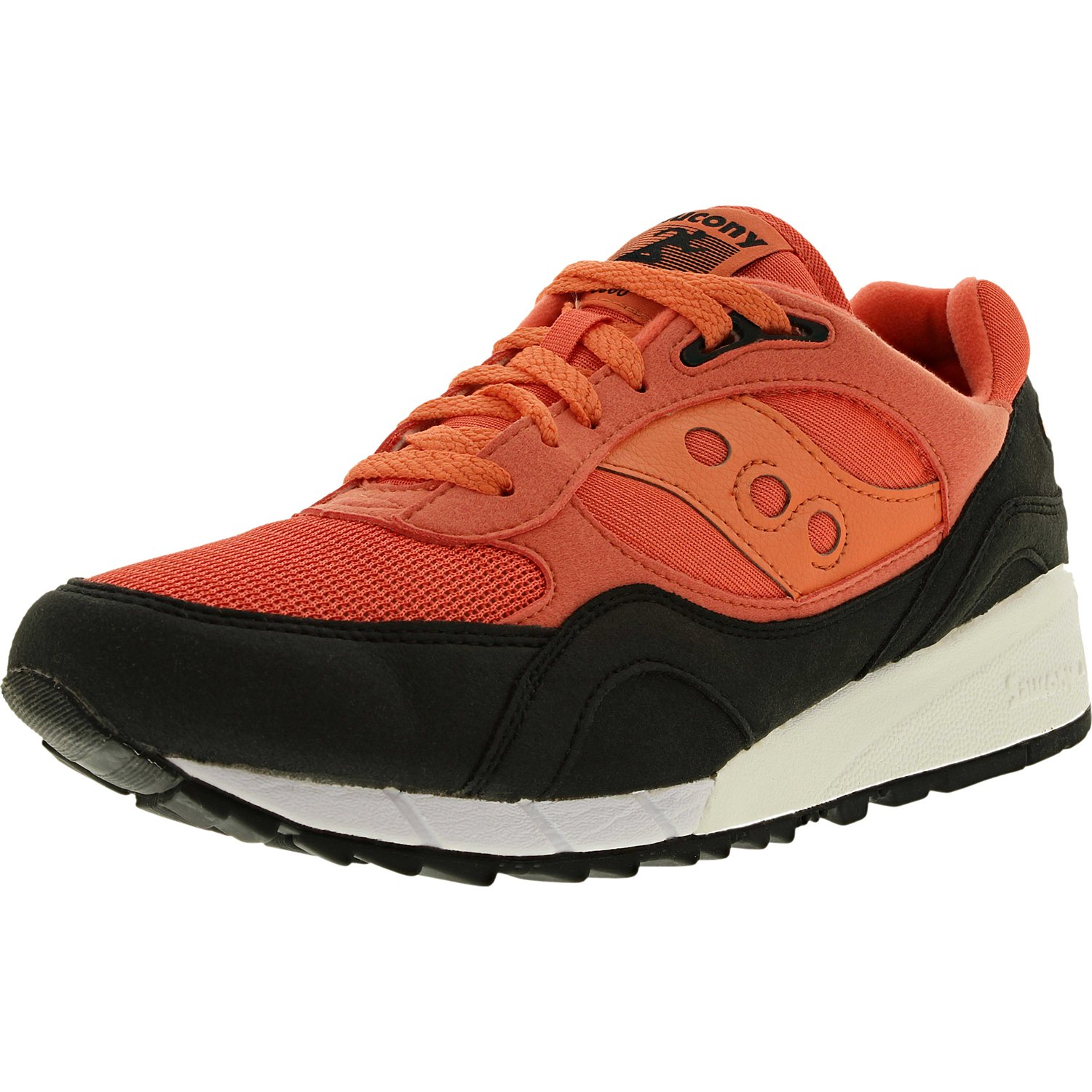 Saucony Men's Shadow 6000 Coral Black Ankle-High Fashion Sneaker 9M by Saucony