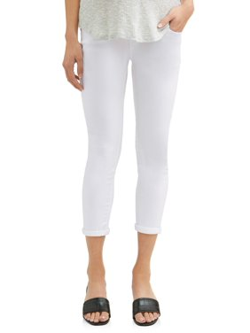 d864b36fc69 Product Image Maternity Overbelly Twill Skinny Capri Pants - Available in Plus  Sizes