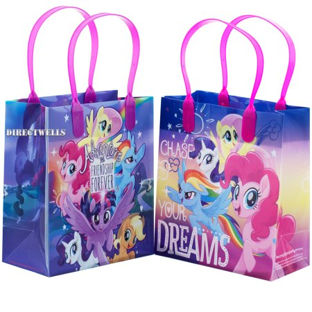 Little Pony Adventure and Friendship 12 Party Favor Reusable Goodie Small Gift Bags - Superhero Goodie Bags