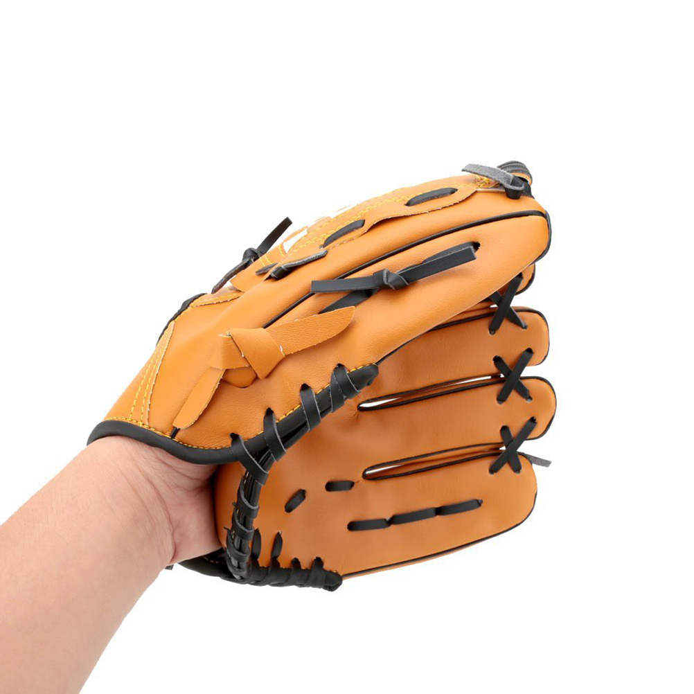 10.5-inch Soft baseball, Outgeek Softball Baseball Left Hand Glove for Outdoor Team Sports (Yellow) by Outgeek