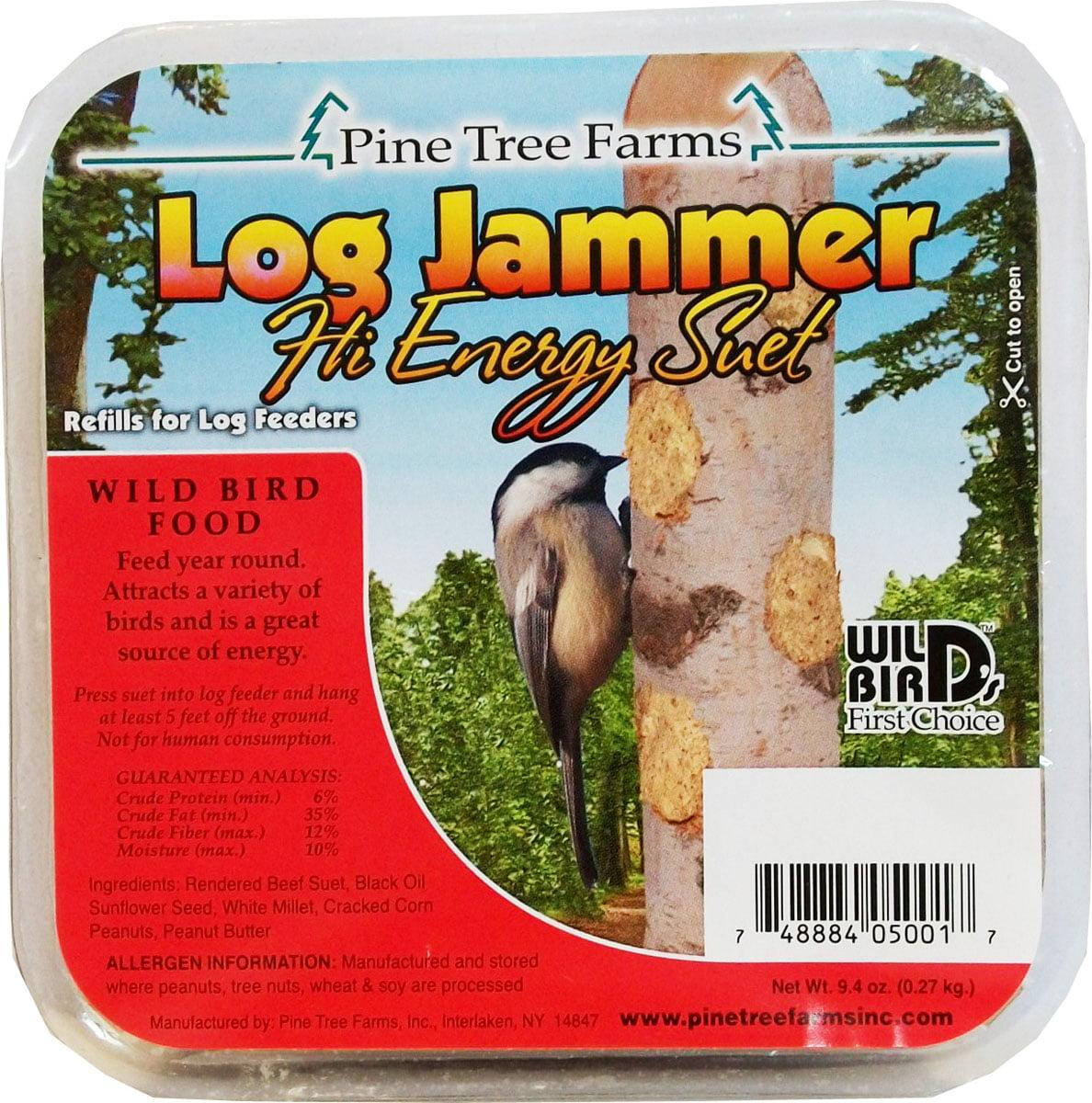 Pine Tree Farms Inc-Log Jammers Suet Plugs- Hi-energy 9.4ounce/3 Pack