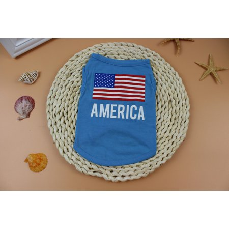 American Flag Cute Pet Vest Clothing Small Puppy Costume Summer Apparel - Cute Puppy Costumes
