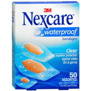 Nexcare Waterproof Clear Bandages Assorted 50 Each (Pack of 2)