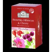 Ahmad Tea, Rosehip, Cherry & Hibiscus Tea, 20 ct, 1.4oz (Pack of 6)