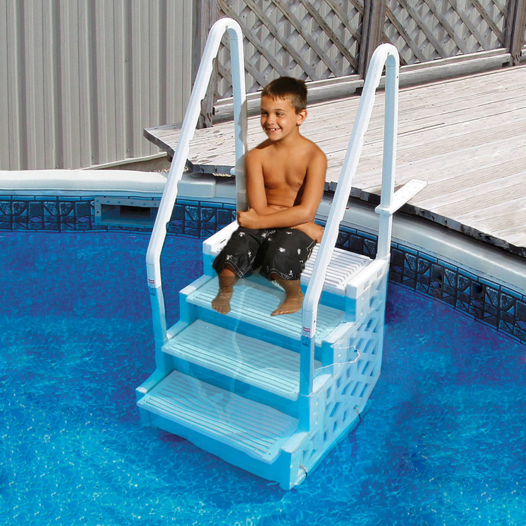 Simple Step 32.5-in Step for Above Ground Pools