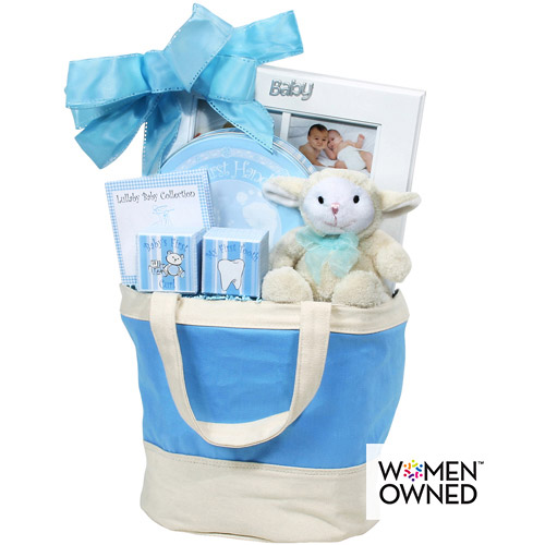 **seasonal Baby Keepsake Tote- Blue
