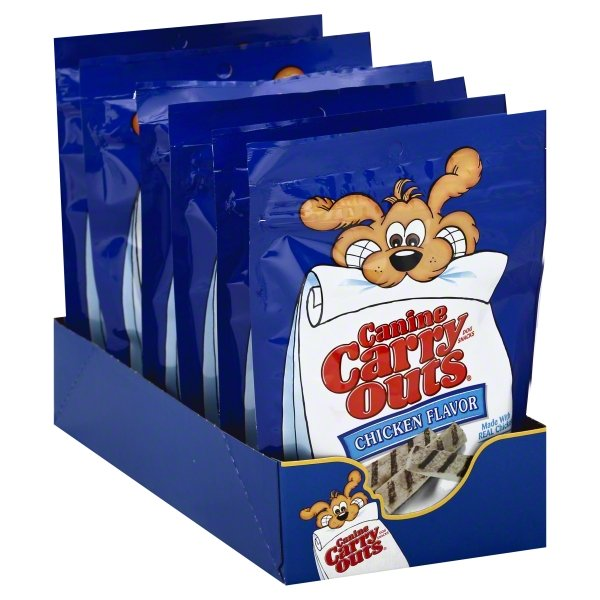 Canine Carry Outs Chicken Flavor Dog Snacks, 5-Ounce
