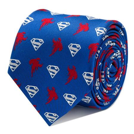 CUFFLINKS INC Mens Superman Blue Tie (Blue) - Modern Stylish Jewelry Accessory