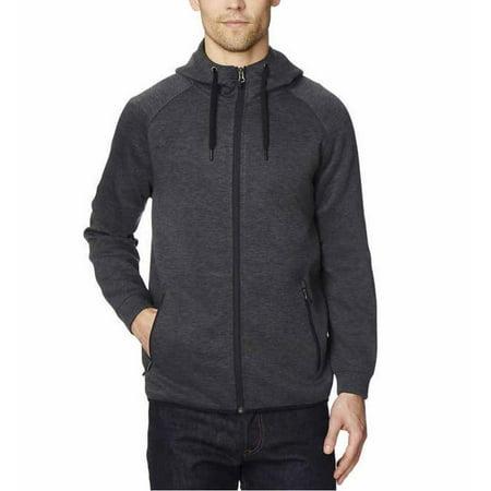 Mens Black Coat Jacket - 32 Degrees Mens Tech Fleece Full Zip Jacket (Heather Black, Large)